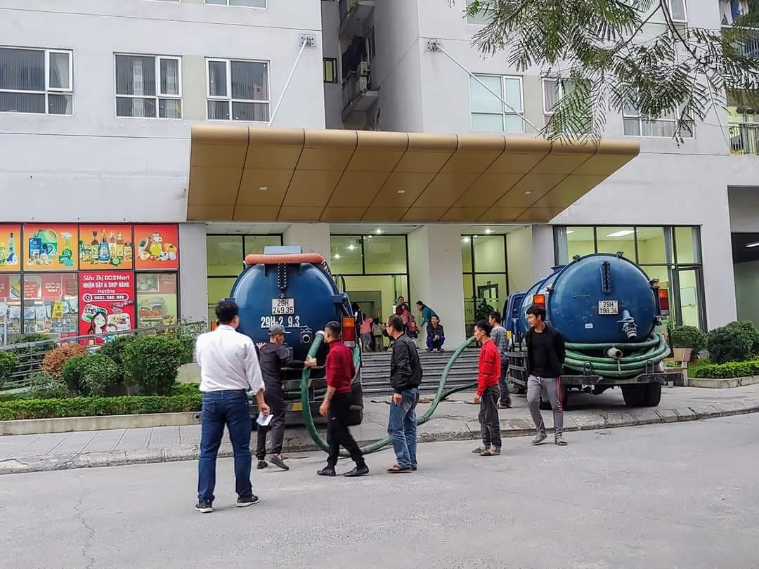 Nhu cầu hút bể phốt tại quận Thanh Xuân